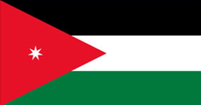 Bandeira do país JORDÂNIA